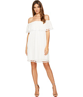 1.STATE - Strapless Ruffle Top Dress w/ Tassels
