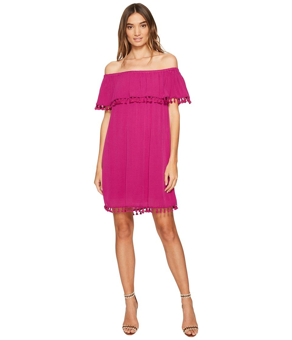 1.STATE - Strapless Ruffle Top Dress w/ Tassels