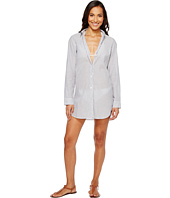Tommy Bahama - Floriana Yarn-Dye Boyfriend Shirt Cover-Up