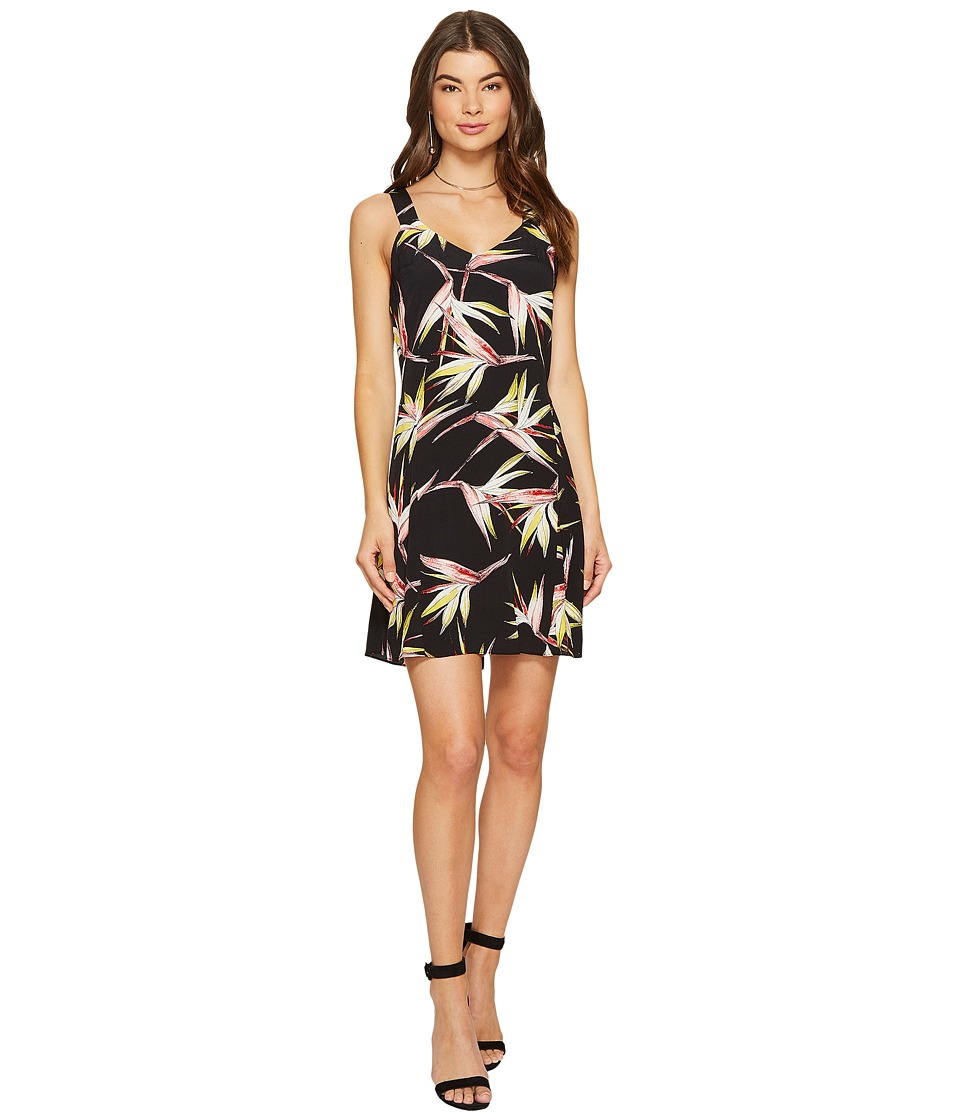 1.STATE - Wide Strap V-Neck Shift Dress