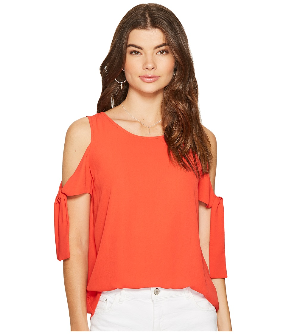 1.STATE 1.STATE - Cold Shoulder Blouse w/ Sleeve Ties