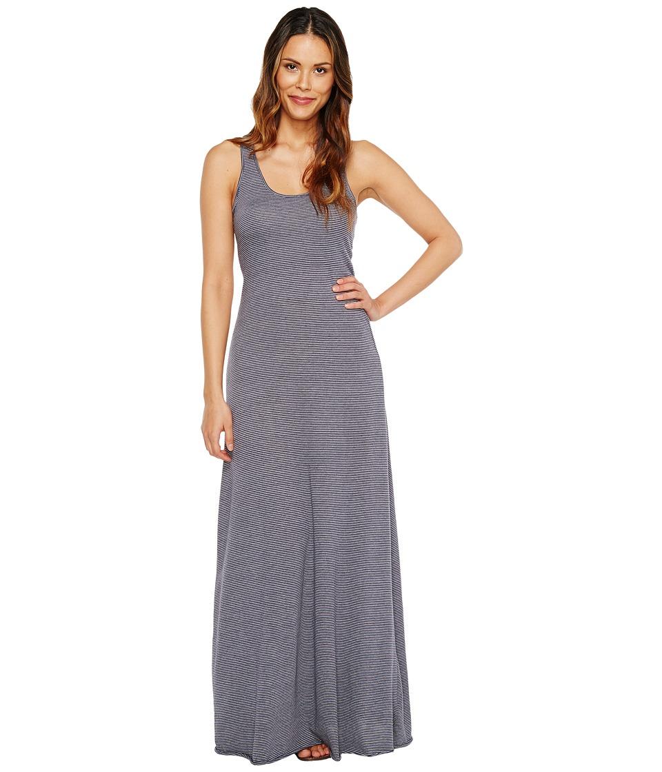 Alternative Eco Jersey Yarn-Dye Stripe Double Scoop Tank Dress (Midnight Seaside Stripe) Women