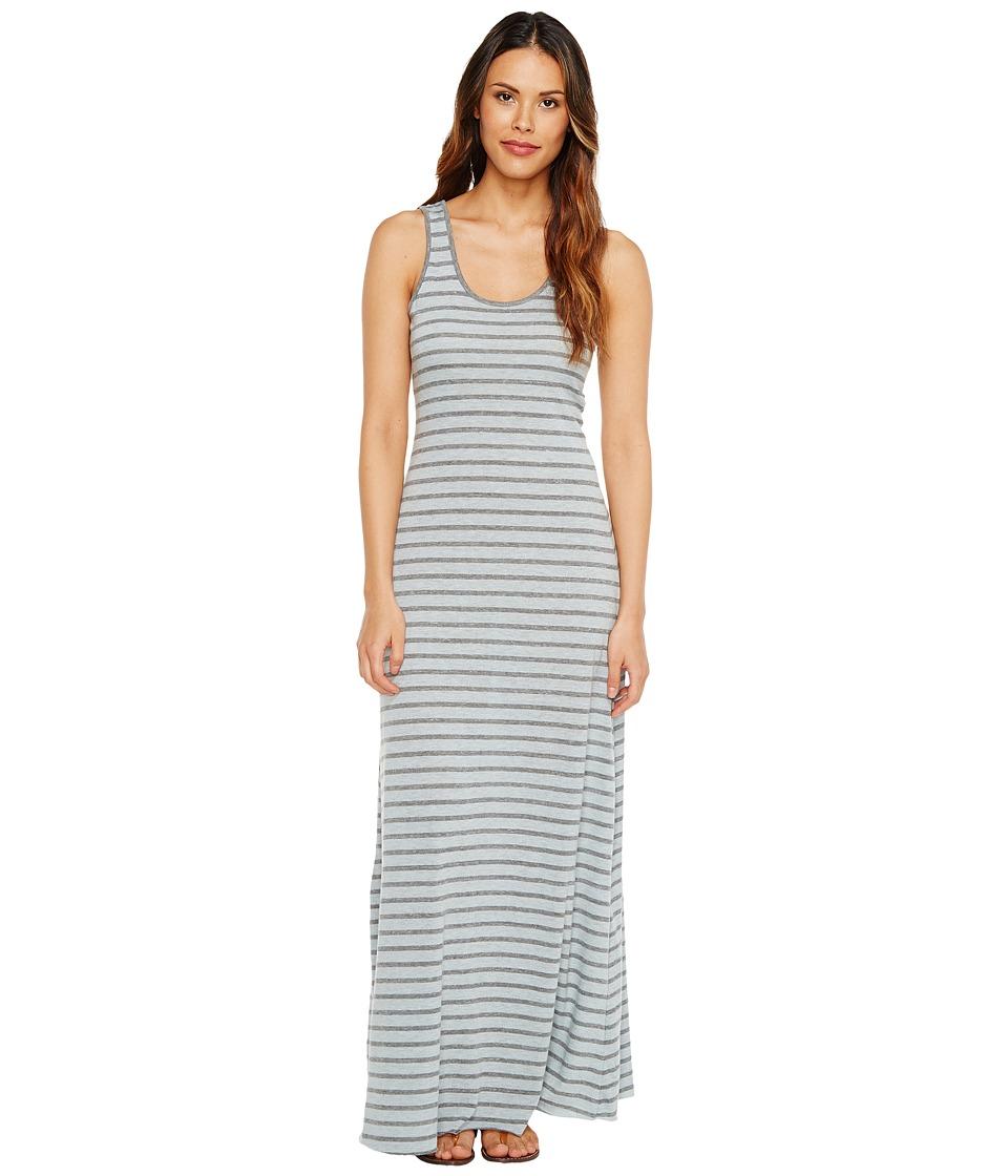 Alternative Eco Jersey Yarn-Dye Stripe Double Scoop Tank Dress (Mist Blue OD Riveria Stripe) Women