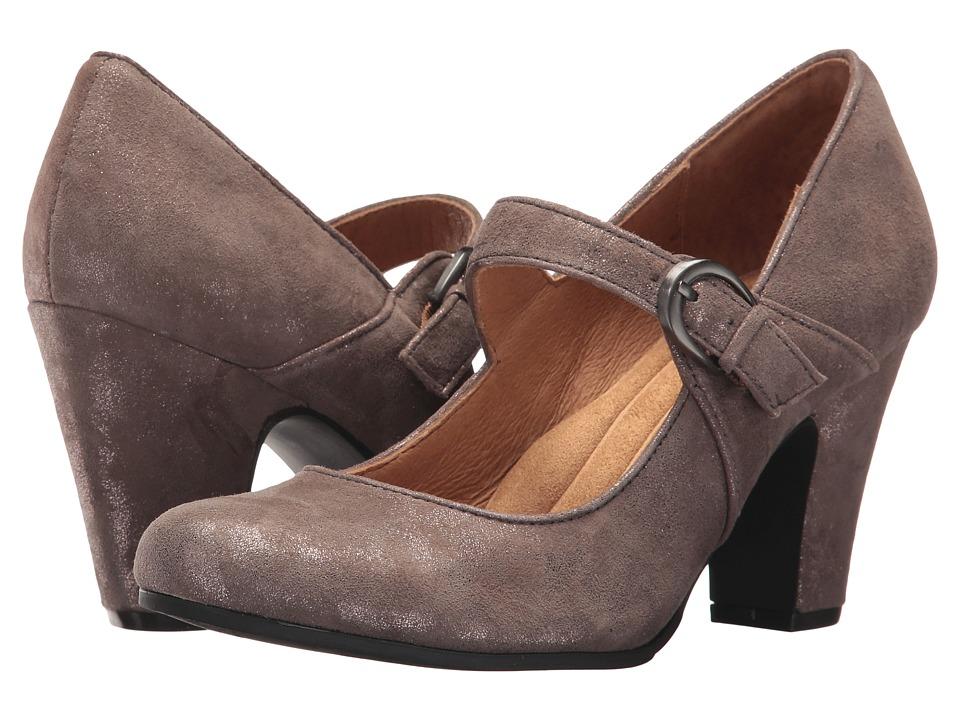 Sofft Miranda (Smoke Distressed Foil Suede) High Heels