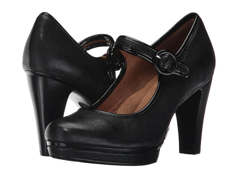 Sofft Monique (Black Rock/Cow Patent) High Heels