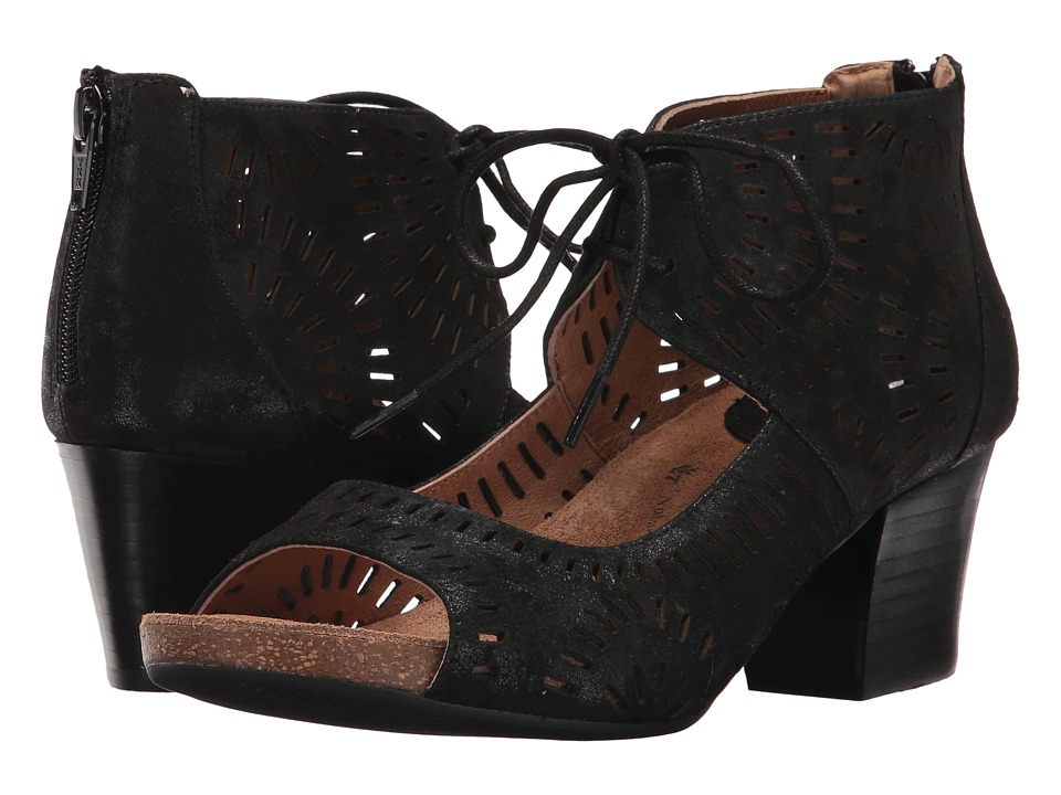Sofft Modesto (Black Distressed Foil Suede) Women
