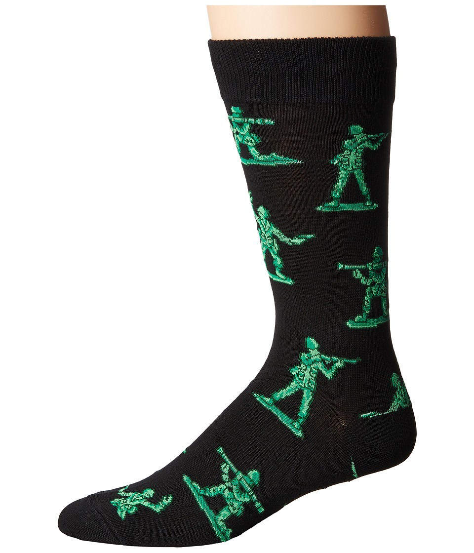 Socksmith - Army Men (Black) Men's Crew Cut Socks Shoes