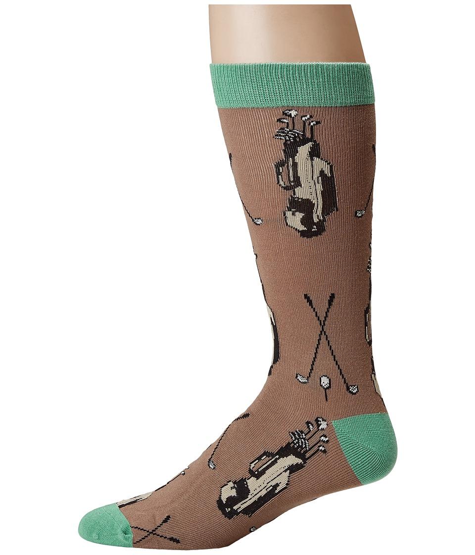 Socksmith - Bamboo Golf Clubs (Woodsmoke) Mens Crew Cut Socks Shoes