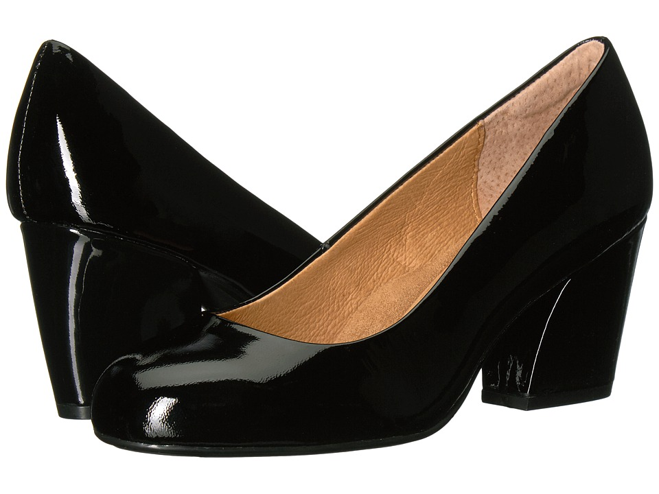 Sofft Tamira (Black Goat Patent) 1-2 inch heel Shoes