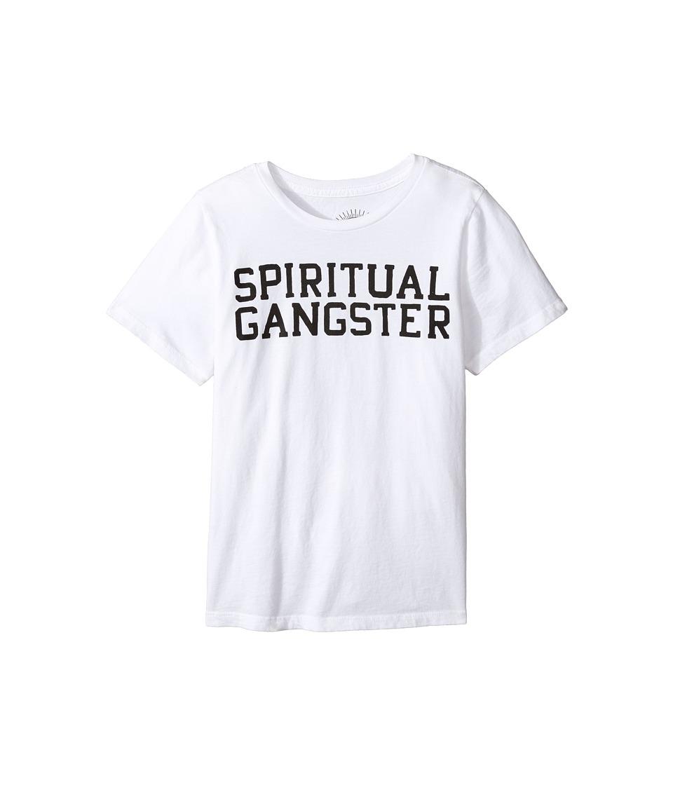 Spiritual Gangster Kids - SG Varsity Tee (Big Kids) (Whit...