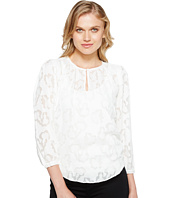 Rebecca Taylor - Long Sleeve Satin Jacquard Top