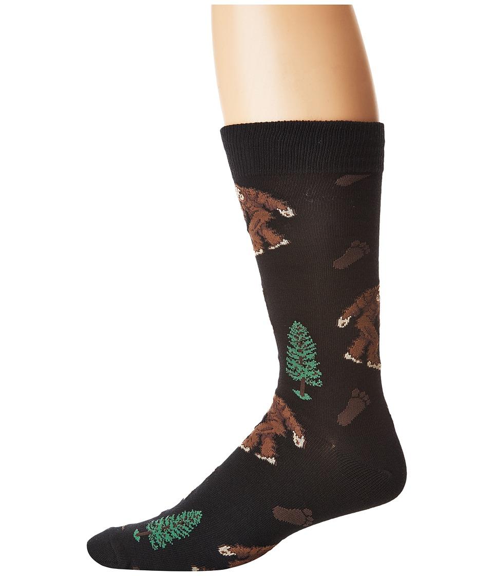 Socksmith - Bigfoot (Black) Crew Cut Socks Shoes
