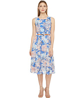 Christin Michaels - Danielle Sleeveless Floral Dress with Belt