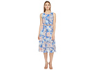 Danielle Sleeveless Floral Dress with Belt