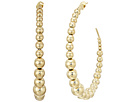 Kenneth Jay Lane Polished Gold Balls Open Circle Direct Post Ear Earrings