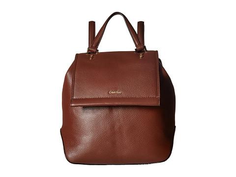 Calvin Klein Doreen Pebble Backpack - Mahogany