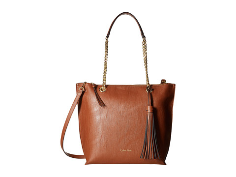 Calvin Klein Unlined Novelty Top Zip Tote - Luggage