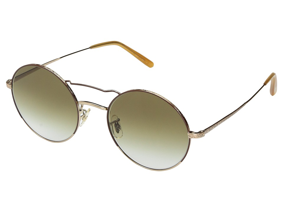 Oliver Peoples - Nickol Limited Edition (Brushed Gold/Rust/Dark Olive Gradient) Fashion Sunglasses