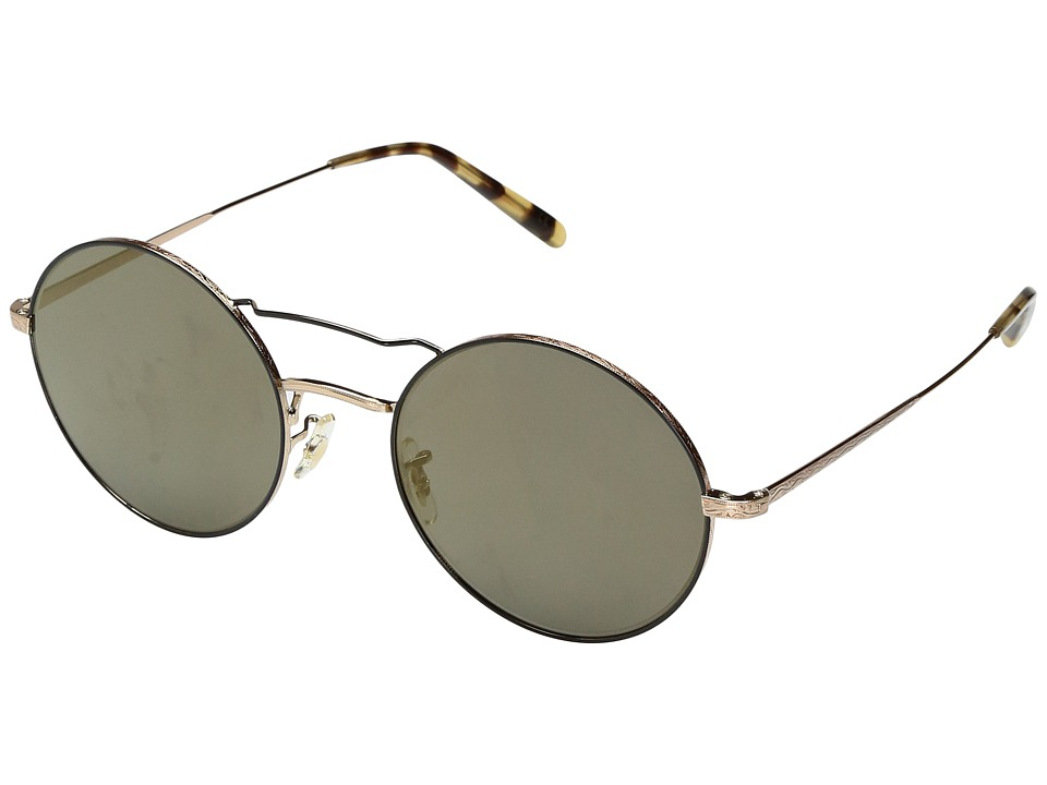 Oliver Peoples - Nickol (Brushed Gold/Black/Graphite Gradient) Fashion Sunglasses