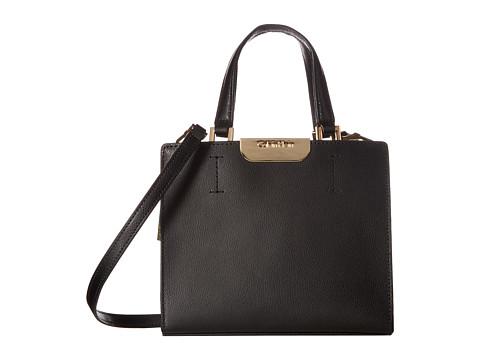 Calvin Klein Lola Saffiano Crossbody - Black/Gold