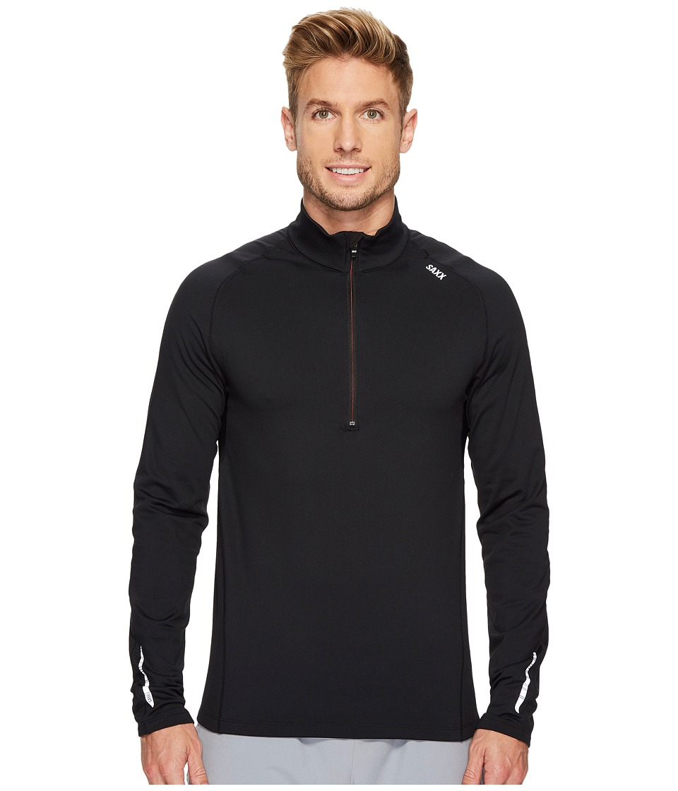 SAXX UNDERWEAR Thermo-Flyte Long Sleeve Top (Black) Men