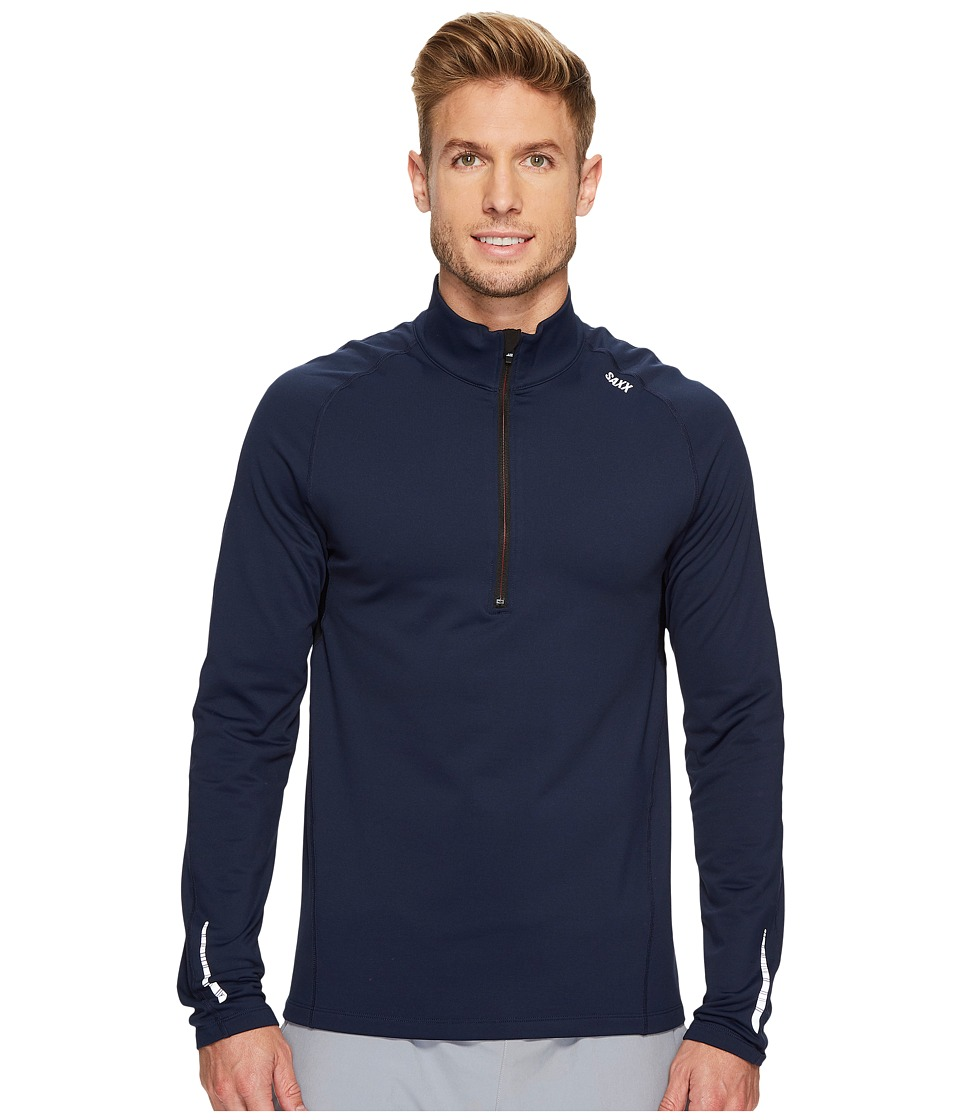 SAXX UNDERWEAR Thermo-Flyte Long Sleeve Top (Navy) Men