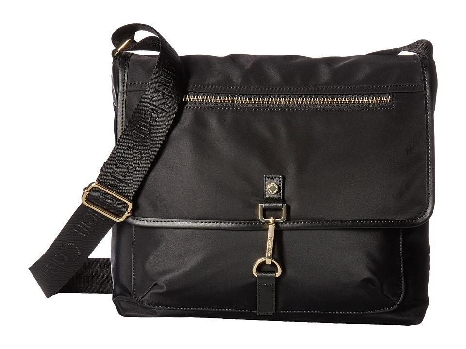Calvin Klein Lianna Nylon Messenger (Black/Gold) Messenger Bags