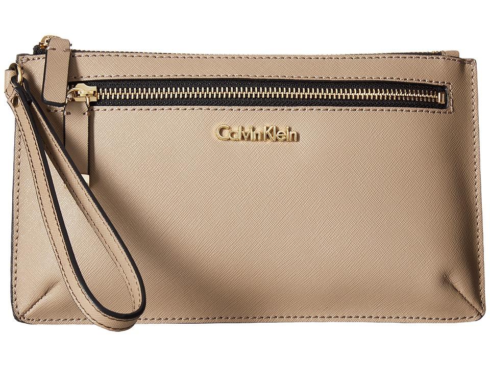 Calvin Klein Large Wristlet (Porcini/Mushroom) Wristlet H...