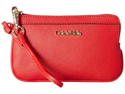 Calvin Klein Saffiano Wristlet Item - Poppy