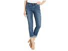 Jag Jeans Jag Jeans Carter Girlfriend Crosshatch Denim Jeans in Thorne Blue w/ Destruction