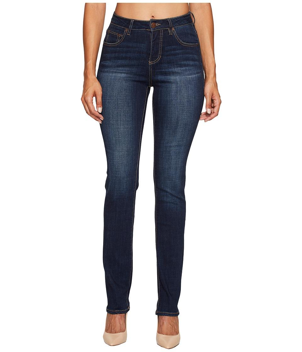 Jag Jeans Laredo High-Rise Straight Crosshatch Denim in Night Breeze (Night Breeze) Women
