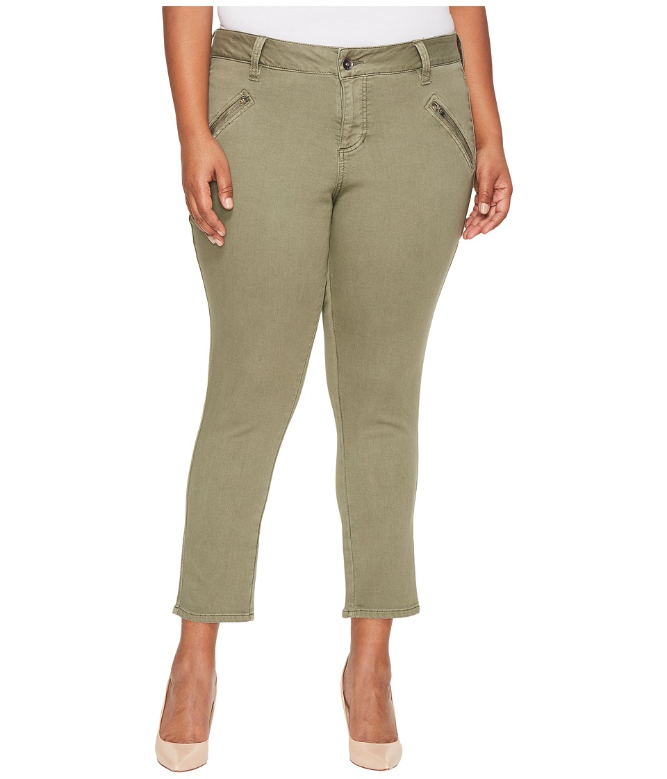 Jag Jeans Plus Size Plus Size Ryan Skinny Freedom Colored Knit Denim in Silver Pine (Silver Pine) Women