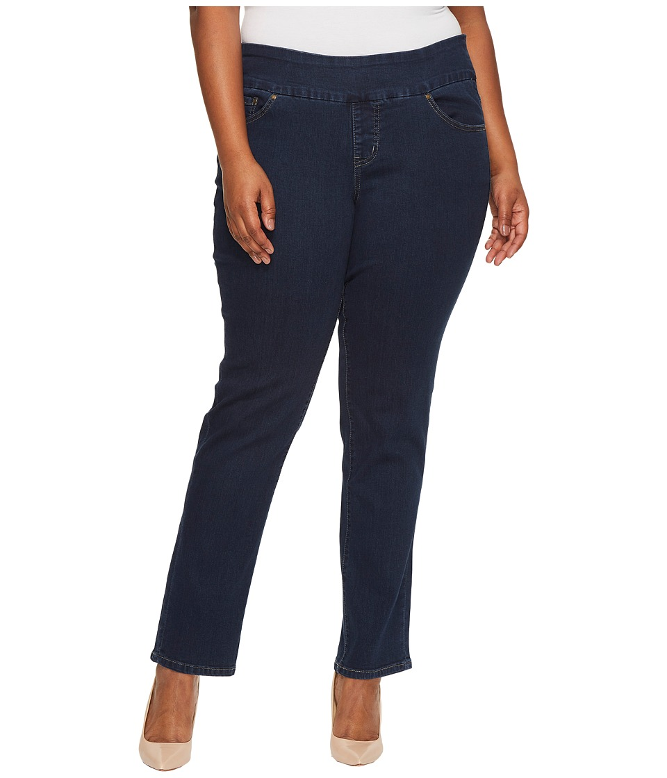 Jag Jeans Plus Size Plus Size Peri Pull-On Straight Butter Denim in Ink (Ink) Women