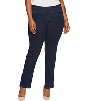 Jag Jeans Plus Size - Plus Size Peri Pull-On Straight Butter Denim in Ink