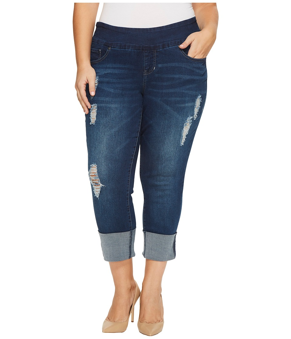 Jag Jeans Plus Size Plus Size Lewis Pull-On Straight Cuffed Butter Denim in Cosmos (Cosmos) Women