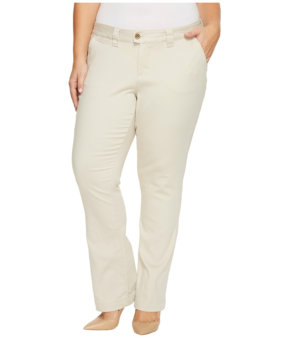 Jag Jeans Plus Size Plus Size Standard Trousers in Divine Twill (Stone) Women