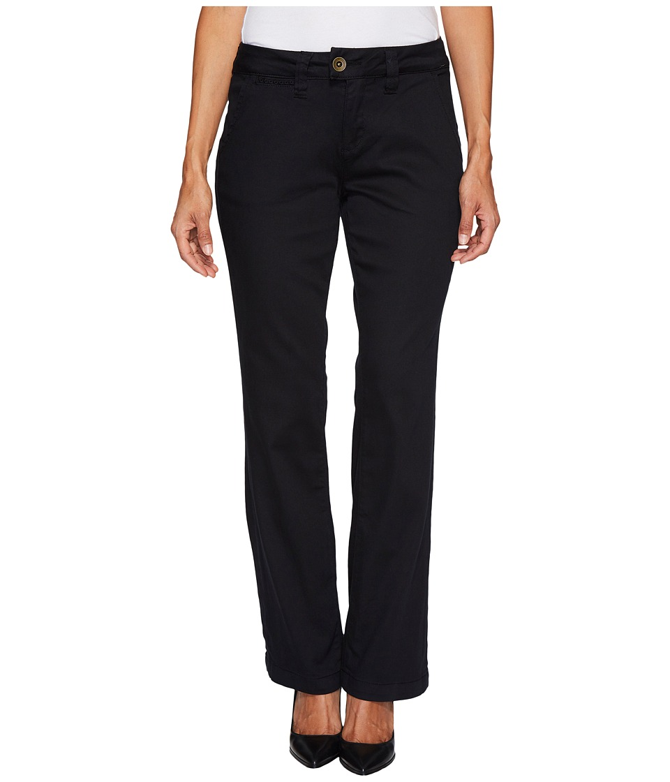 Jag Jeans Petite - Petite Standard Trousers in Divine Twill (Black) Womens Jeans
