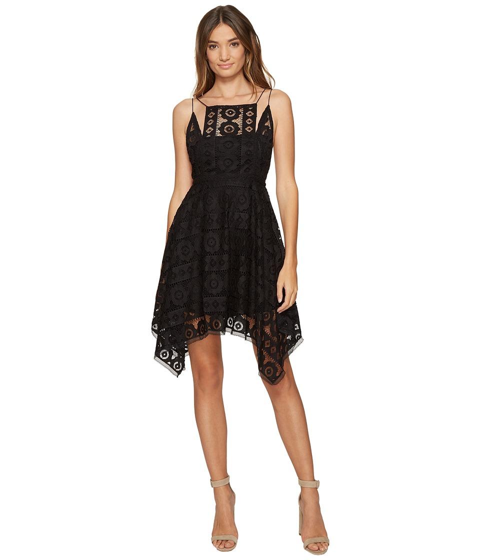 Free People Just Like Honey Lace Dress (Black) Women