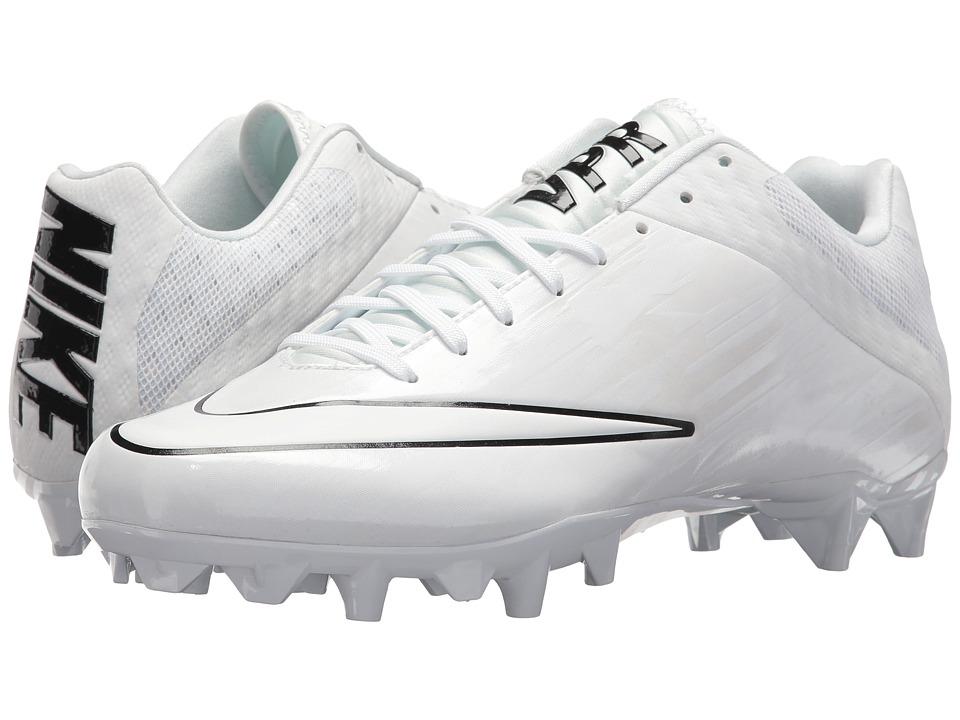 Nike - Vapor Speed 2 Lacrosse Cleat (White/White/Black) Athletic Shoes