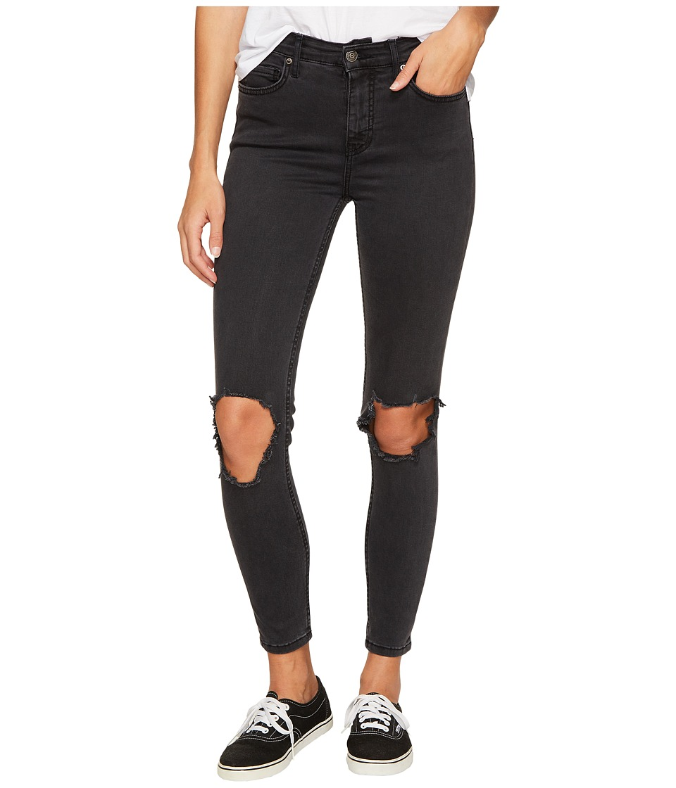 Free People High-Rise Busted Skinny in Carbon (Carbon) Women
