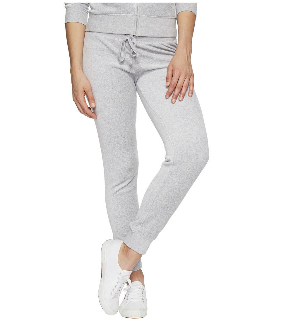 Juicy Couture - Zuma Velour Pants (Silver Lining) Women's Casual Pants