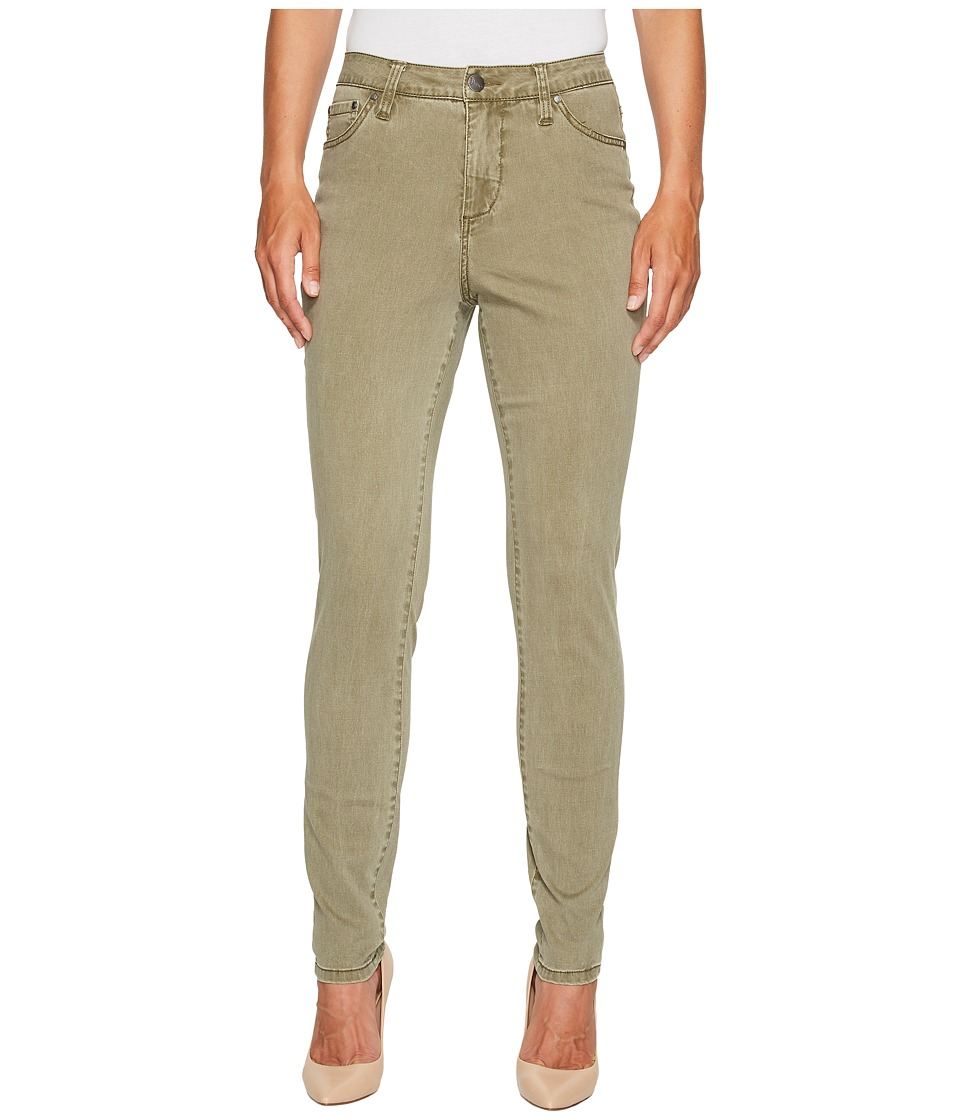 Jag Jeans Gwen High-Rise Skinny in Lush Sateen (Deep Olive) Women