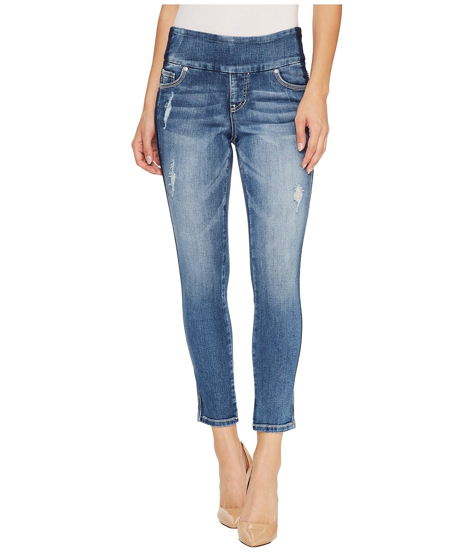 Jag Jeans Nora Marta Pull-On Skinny Ankle Surrel Denim in River Wash with Color Block (River Wash) Women
