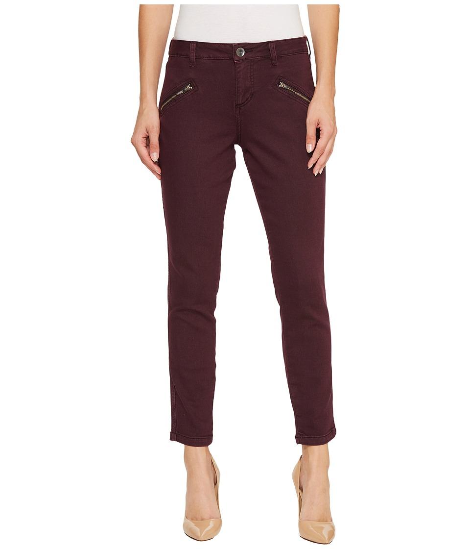 Jag Jeans Ryan Skinny Colored Knit Denim in Plum Noir (Plum Noir) Women