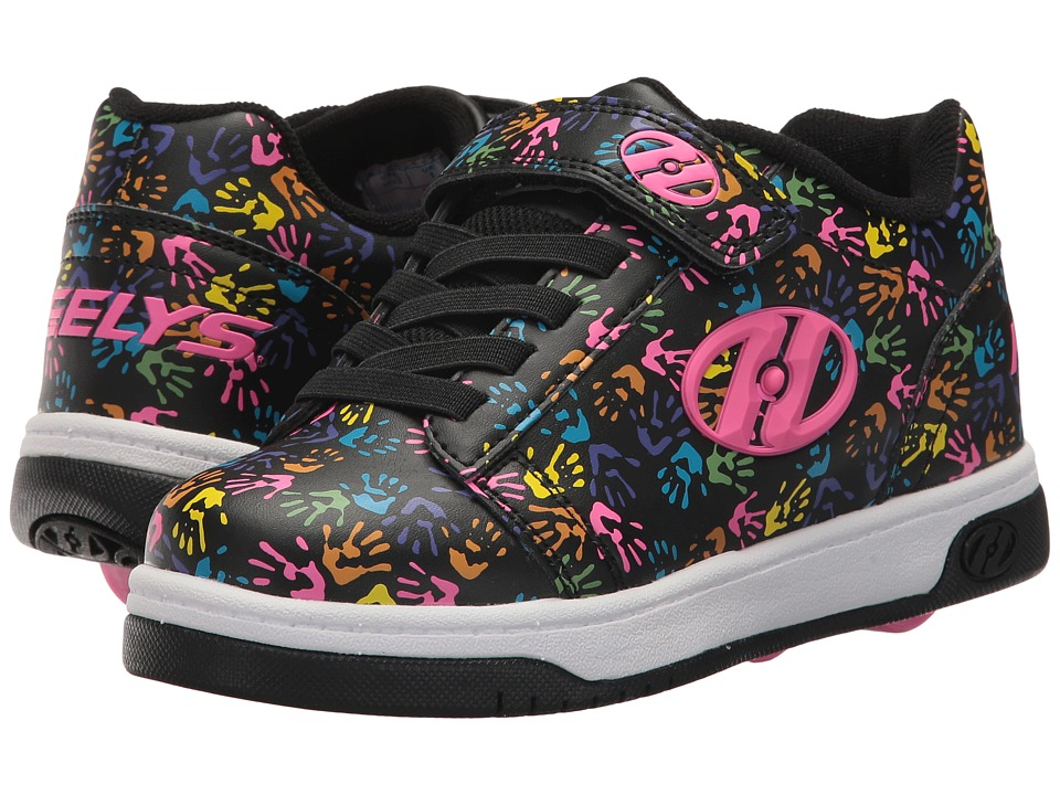 Heelys Dual Up x2 (Little Kid/Big Kid) (Black/Multi/Hands) Girls Shoes