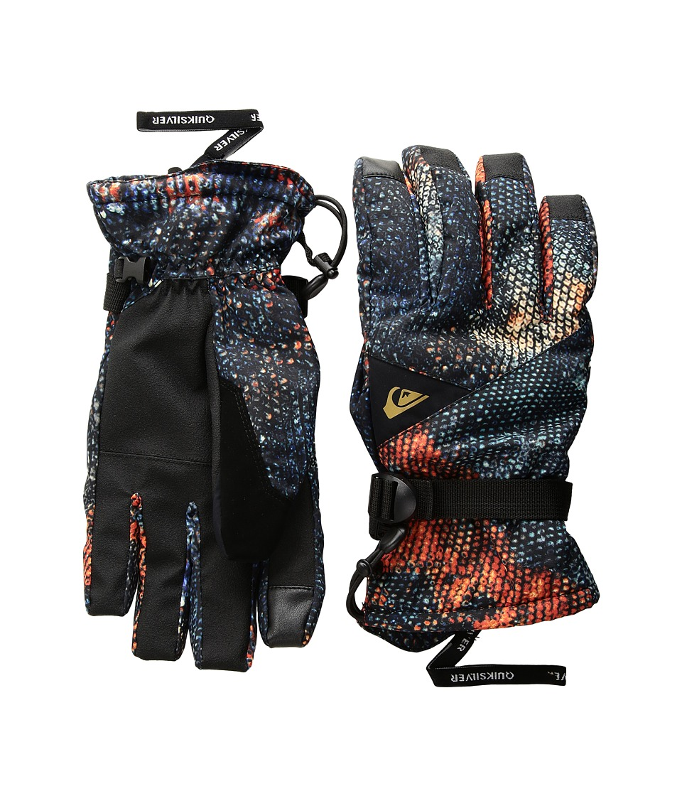 Quiksilver Travis Rice Mission Gloves (Marine Iguana Real) Extreme Cold Weather Gloves