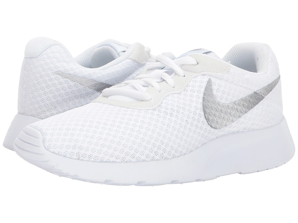 Nike Tanjun (White/Metallic Silver) Women's Running Shoes
