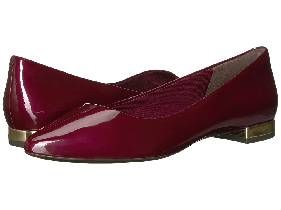 Rockport - Total Motion Adelyn Ballet (Merlot Patent) Womens Dress Flat Shoes