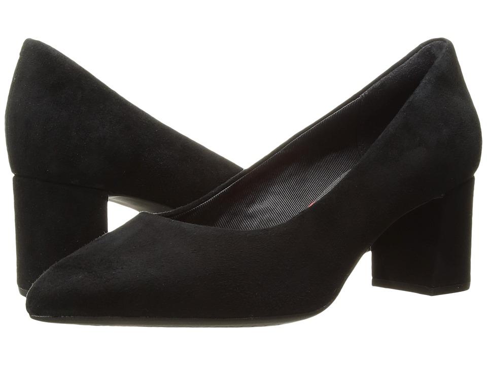 Rockport Total Motion Salima Pump (Black Suede) Women's Shoes