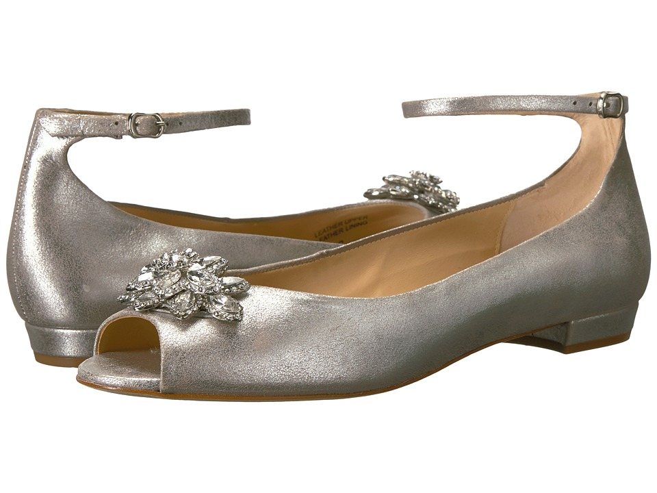 Badgley Mischka Kaidence (Silver Metallic Suede) Women